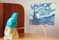 Marshmallow Peeps Dioramas - Thrillist Marshmallow Peeps, Easter Peeps, Easter Art, Happy Easter, Peep Show, Elementary Art, Vincent Van Gogh, Art History, Nerdy