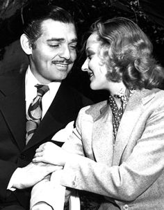"gableandlombard:  Carole was madly in love with Clark and she wasn't about to let anything get in the way of that.   Once, Carole stormed onto the set of one of Clark's movies and demanded that the leading lady, who was rumored to have taken a liking to Gable, was fired.  ""Get this bitch out of your picture or I'll take Gable out of it!"" she screamed at the director.  Gable later bragged about it."