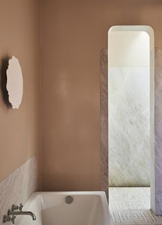 marble details // soft blush // patterned tile // minimal + warm