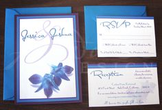 Blue & Purple Orchid Invitation-wish I saw these when I got married.