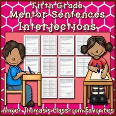 Mentor Sentences: Interjections {Fifth Grade} Expository Writing, Narrative Writing, Editing Writing, Writing Lessons, Writing Skills, Mentor Sentences, Mentor Texts, Fourth Grade Writing, Similes And Metaphors