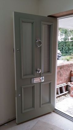 Victorian Front Door an Farrow and Ball Blue Grey www.thehampshiredoorcompany.co.uk