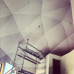 Geodesic dome house remodel in Source by CustomDrywall Geodesic Dome Homes, Plaster Art, Dome House, Buy Local, Tuscan Style, Interior Walls, Home Remodeling, House Plans, Mid Century