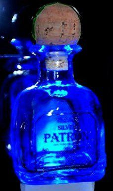 Liquor bottle night light