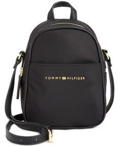 Tommy Hilfiger Juliette Nylon Mini Backpack Crossbody In Black Tommy Hilfiger Outfit, Tommy Hilfiger Bags, Tommy Hilfiger Women, Cute Mini Backpacks, Stylish Backpacks, Burberry Handbags, Prada Handbags, Burberry Bags, Mochila Tommy