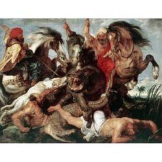 The Hippo Hunt Peter Paul Rubens (1577-1640 Flemish) Canvas Art - Peter Paul Rubens (18 x 24)