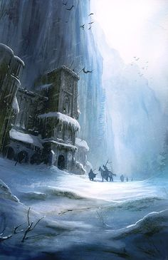"""A Game of Thrones"" by Marc Simonetti Winter is Coming is an upcoming group art show being hosted by author George R. Martin at Ltd. Art Gallery in Fantasy Places, Fantasy World, Fantasy Art, Fantasy Castle, Fantasy Fiction, Art Game Of Thrones, Black Castle, Fire Art, Fire And Ice"