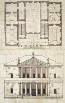 Villa La Malcontenta, 1570, by Andrea Palladio (1508–1580), from The Four Books of Architecture, volume two.