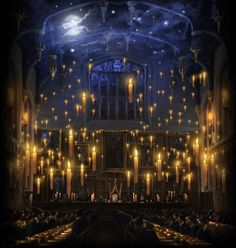 The Great Hall. Yes, I'd love to have a dining room with floating candles.