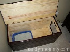 Handy Mommy: Hiding the Litter Box: Adios, Cat Smell!