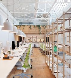 Design studio Hecker Guthrie of Melbourne, Australia took on the renovation of a former warehouse transforming it into a loft-like office for digital agency Evolution 7.