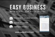 In addition to Rentec Basic, and Rentec Pro, we offer a property management software portal that is specific to Home Owners Associations.