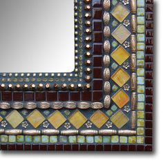 Fab.com | Marvelous Mosaic Mirrors & Frames Mirror Mosaic, Mosaic Glass, Stained Glass, Glass Art, Mosaic Garden Art, Mosaic Art, Mosaic Tiles, Mosaic Crafts, Mosaic Projects