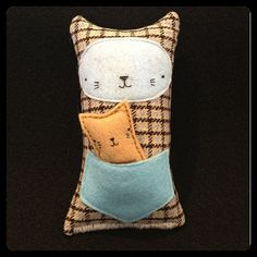 Kitty Mama & Baby Softie Recycled Fabric and Eco by FleeciDesigns, $30.80