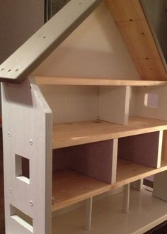 Wooden Dollhouse, Diy Dollhouse, Doll House Plans, Play Shop, Kids Bedroom, Bookcase, Ikea, Interior, Furniture