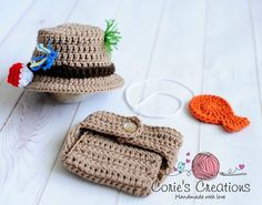 Crochet Newborn Fishing Hat and Diaper Cover Set - Photography Prop, newborn, baby on Etsy