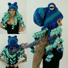 Crochet Ocean Octopus hat
