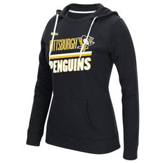 Women's Pittsburgh Penguins CCM Black Sticks and Stripes Crew Hoodie