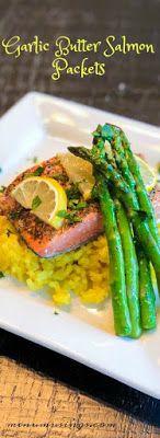 Easy Garlic Butter salmon Packets - #lowcarb #highprotein #mealprep #30minutemeal #kidfriendly #diabetic #easydinner #healthyrecipes