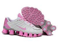 huge discount 7f62a eb7ab chaussures nike shox tl femme (blanc rose) pas cher en ligne. Chaussures