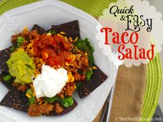 Reinventing fast food - taco salad is quick and easy to make, plus it is healthy too!