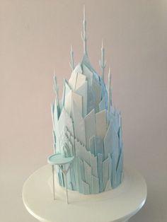 Elsa's Ice Castle Cake. Amazing!