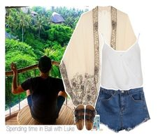 """""""Spending time in Bali with Luke"""" by shefi-22 ❤ liked on Polyvore featuring moda, Anna Sui, Miss Selfridge, NLY Accessories e Birkenstock"""
