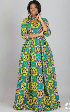 16 20 Gorgeous Ankara Gown Styles & Ideas On How To Wear Them Ankara Long Gown Styles, Latest African Fashion Dresses, African Print Dresses, African Dresses For Women, African Print Fashion, Africa Fashion, African Attire, Ankara Styles, Ankara Gowns