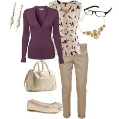 First day of work, created by lmusto on Polyvore