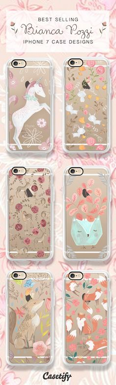 Newest best selling iPhone 7 case designs by Bianca Pozzi - shop all these phone cases here >> https://www.casetify.com/biancapozzi/collection/iphone-7