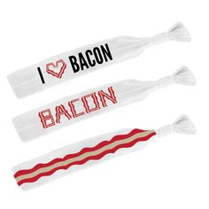 Custom Bacon Hair Ties , #bacon , bacon gear
