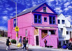 Pink House On Potrero Hill In San Francisco www.mitchellfunk.com