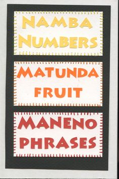 table of contents... swahili flashcards 4x6 inches hand-cut and sewn paper collage