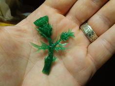 Thistle flower wax wip by Debals
