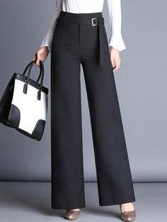 1821050d5f80 2017 Spring Autumn Women Trousers Fashion Plus Size High Waist Wide Leg  Pants Casual Lace Elastic Waist Office Pants