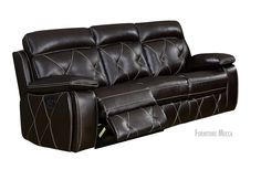 Atlas Pillow Top FauxLeather Cushioned Sturdy Wood Frame Stitch Accent Reclining Sofa * You can figure out more details at the link of the image. (This is an affiliate link). Reclining Sofa, Recliner, Living Room Furniture, Couch, Console Tables, Stitch, Pillows, Wood, Frame