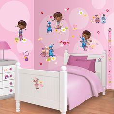 disney  doc mcstuffins  bedrooms for girls   Walltastic Disney Doc McStuffins Room Decor Kit - 41516