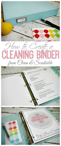Everything you need to create a cleaning binder.  This will be awesome to help keep me on track!  Free printables included.