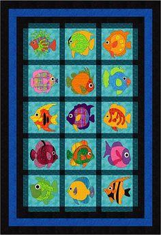 Wonderfully Fishy 62x90 15 blocks BOM