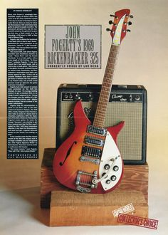 1969 Rickenbacker 325 Guitar Poster - John Fogerty - Rickenbacker Guitar Poster - Rickenbacker Guitar - Creedence Clearwater Revival by MusicSellerz on Etsy