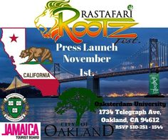 #RastafariRootzfest has become a premier cannabis event based on the blending of education the #GanjaCup competition #Cannabis experts and authentic Roots Rock and #Reggae. The third staging takes place Dec 15 - 17 in #Negril #Jamaica  Today's @rootzfest #PressLaunch takes place at  #Oaksterdamuniversity #Oakland  #CA.