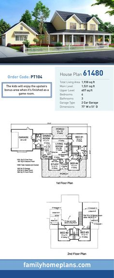 Complete make your own blueprint tutorial for those designing their country house plan 61480 total living area 1938 sq ft 4 bedrooms and malvernweather Images
