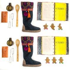 Everyone loves MUK LUKS®, even Gingebread Men (and Ladies)!  Shop MARISSA Slipper Boots @6pm
