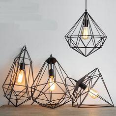 Ceiling Lights & Fans Modern Iron Hollow Hanging Light Wrought Pendant Lamps Corridor Indoor Chandelier Clh@8 Pendant Lights