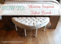 How to make a tufted bench  This is perfect for my bedroom. I meed to do this!!