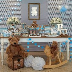 39 Ideas For Baby Shower Ideas For Boys Themes Teddy Bears Party Planning - Baby room ideas - Baby Shower Deco Baby Shower, Boy Baby Shower Themes, Baby Shower Games, Baby Boy Shower, Office Baby Showers, 2nd Baby Showers, Juegos Baby Shower Niño, Decoracion Baby Shower Niña, Christmas Baby Shower