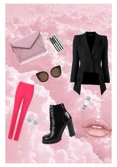 Прогулка by merimi on Polyvore featuring polyvore fashion style Alexander McQueen Gucci Jeffrey Campbell Rebecca Minkoff Casetify Longines STELLA McCARTNEY Lime Crime clothing