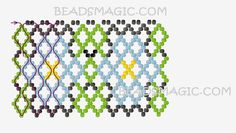 Free Pattern For Beaded Necklace Chamomile   Beads Magic
