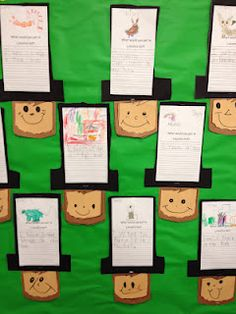 President's day craft and writing for kindergarten. great way to sneak in practice on writing a complete sentence and handwriting too!