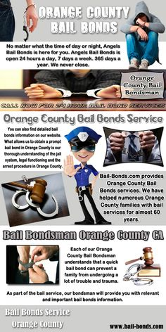 Browse this site http://bail-bonds.com/ for more information on Orange County Bail Bonds Service. With the help of Orange County Bail Bonds Service providers, individuals charged with a bailable offense can stay out of jail fast. With the help of a licensed bail agent, you can also learn how the bail process actually works and be more familiar with your legal rights. Follow Us : https://bailbondorangecountyca.wordpress.com/2015/07/13/orange-county-bail-bonds-service/